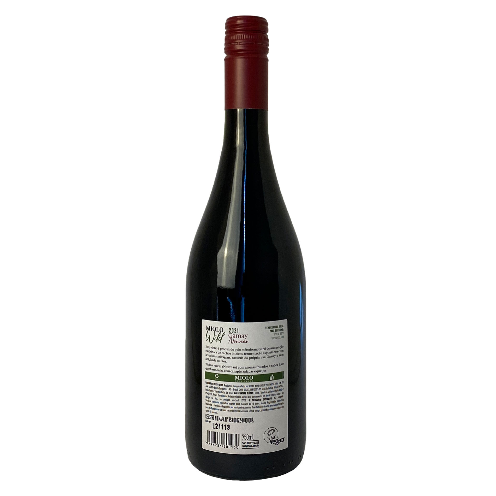 Miolo Wild Gamay (levedura selvagem)  - Vinerize