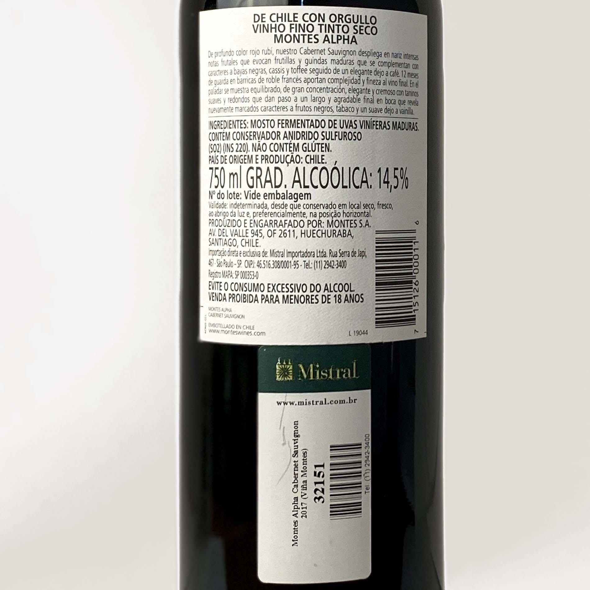 Montes Alpha Cabernet Sauvignon  - Vinerize