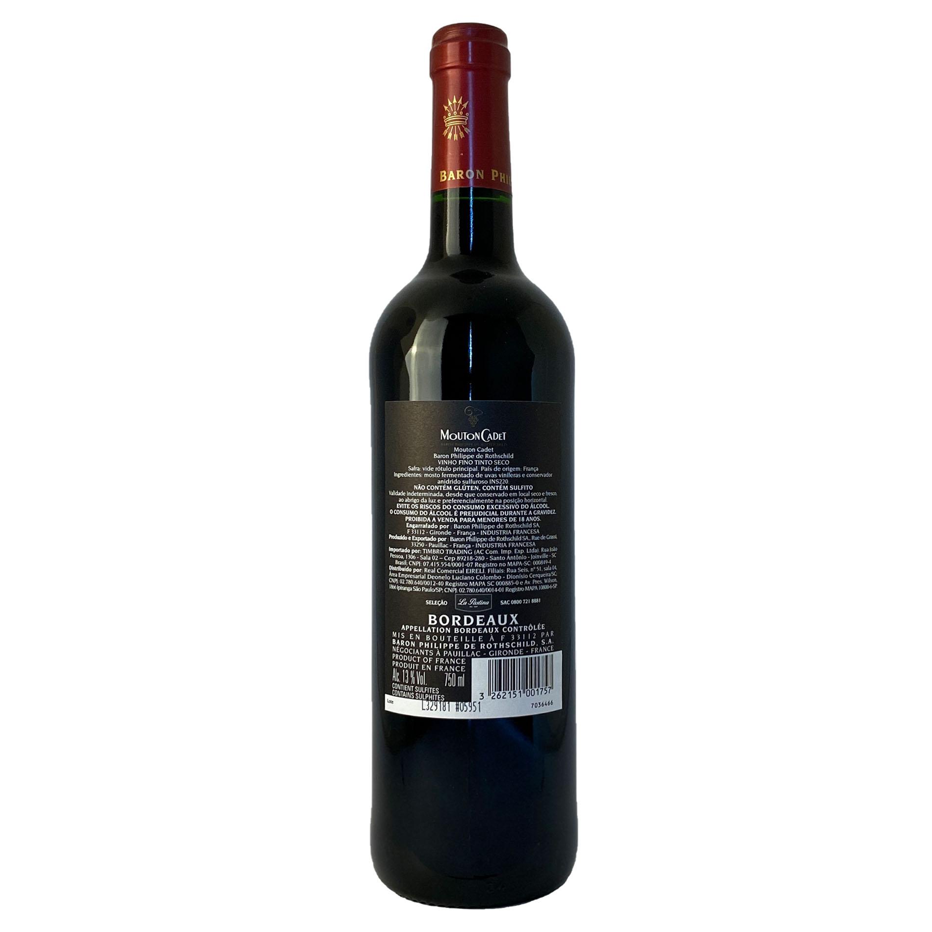Mouton Cadet Rouge Bordeaux  - Vinerize