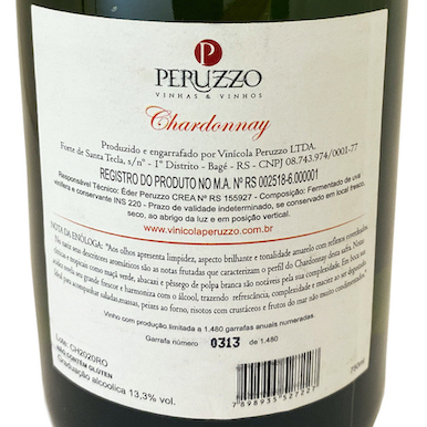 Peruzzo Chardonnay  - Vinerize