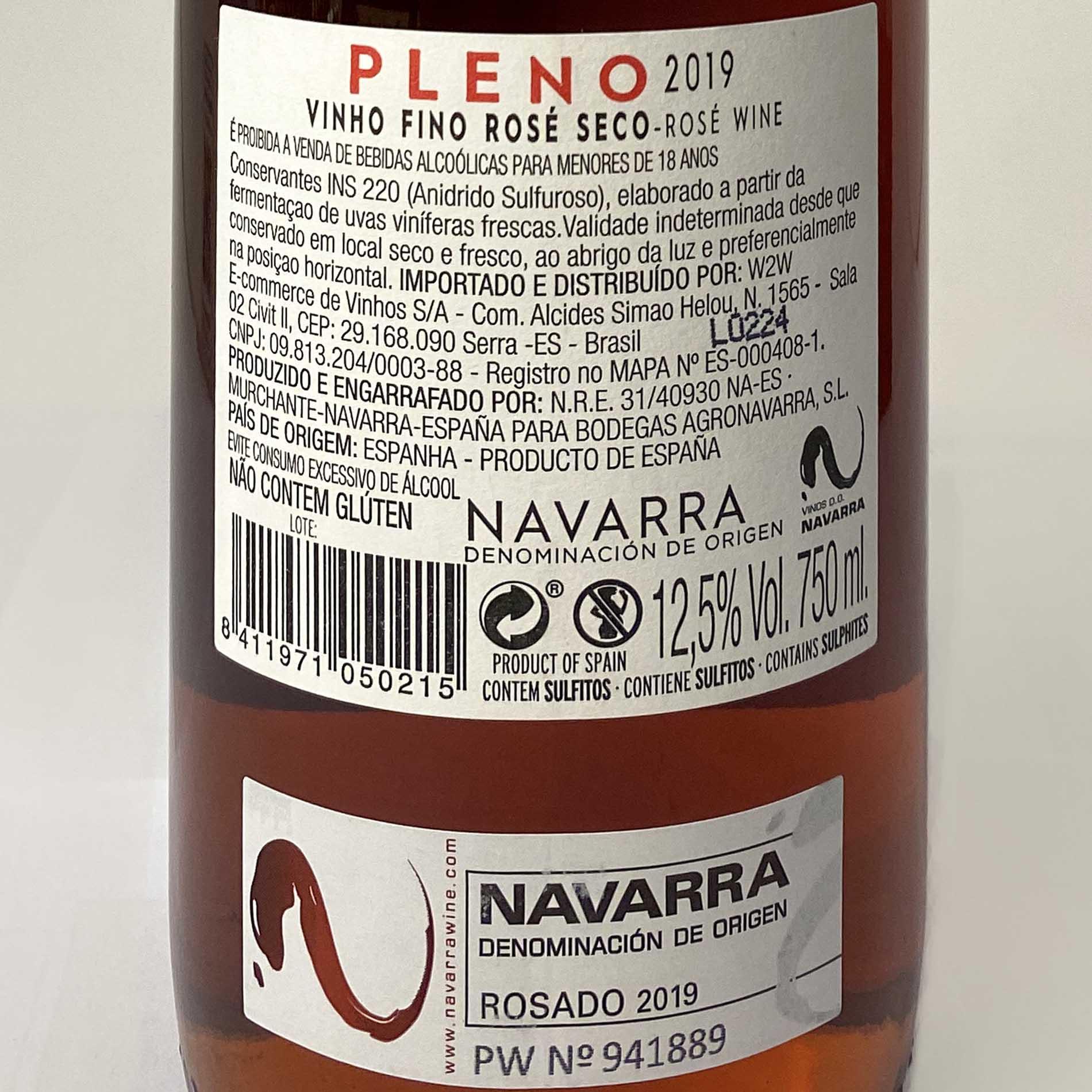 Pleno D.O. Navarra Rosado  - Vinerize
