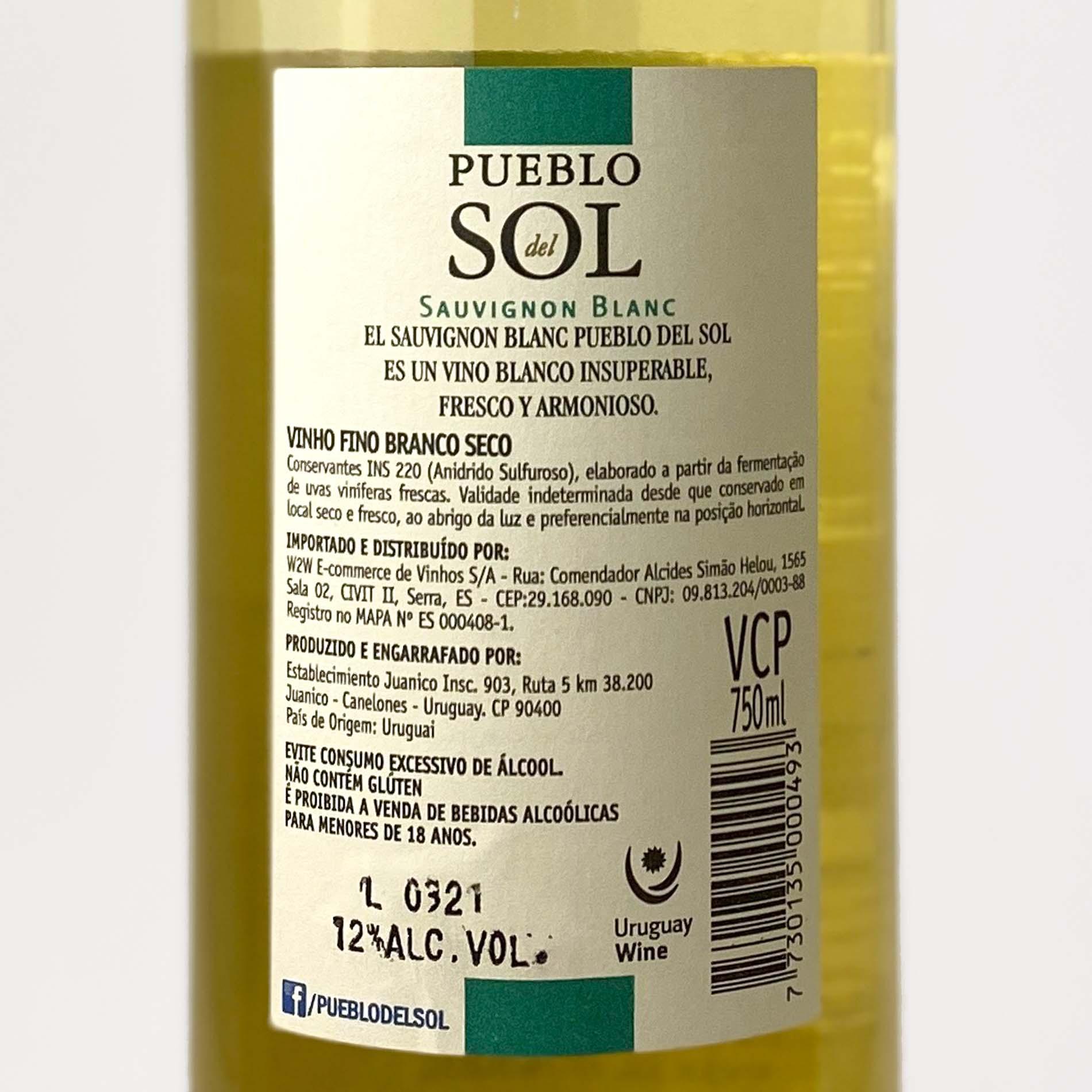 Pueblo del Sol Sauvignon Blanc 2020  - Vinerize