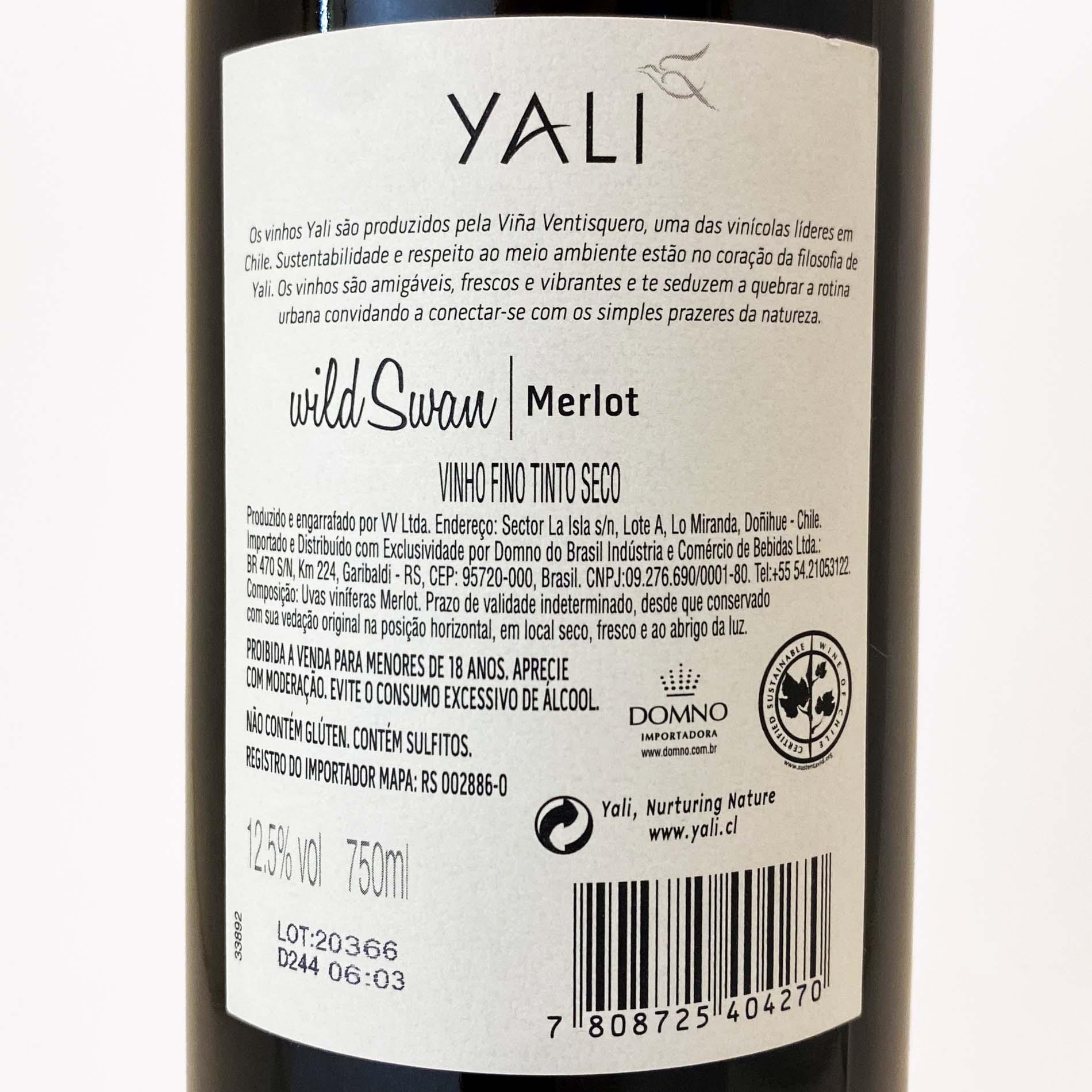 Yali - Wild Swan Merlot  - Vinerize