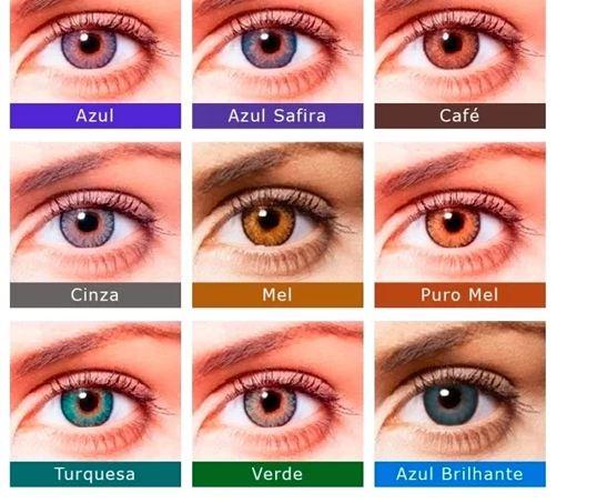 Lentes de Contato Colorida FreshLook Colorblends - COM GRAU Caixa com 2 lentes (1 par) do mesmo grau