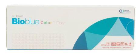 Lentes de contato coloridas Bioblue Color 1-Day - Sem grau