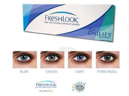 Lentes de Contato FreshLook One-Day Color - Caixa com 10 lentes da mesma cor sem grau