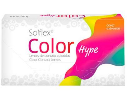 LENTES DE CONTATO SOLÓTICA SOLFLEX COLOR HYPE - BRANCA - VERMELHA - AMARELA - COSPLAY