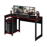 Mesa Gamer Reversível Tecnomobili Me4152 Preta/Vermelha Trevalla