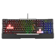 Teclado Gamer Semi Mecânico LED Rainbow TC208 Wakiza Warrior