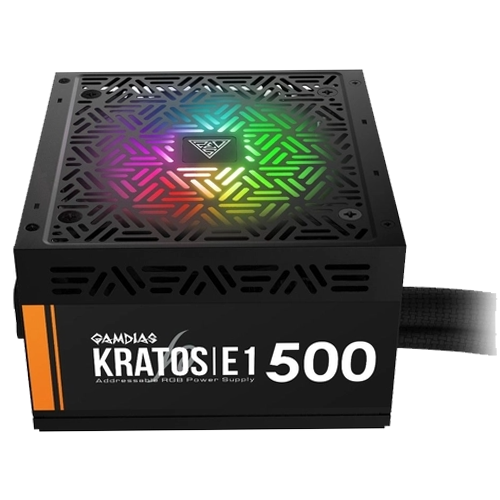 Fonte Kratos E1-500w 80 Plus RGB GAMDIAS