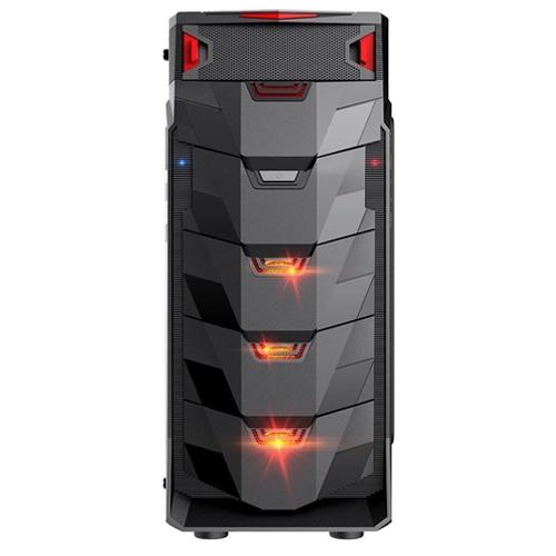 Gabinete Gamer LED Vermelho Taurus MyMax