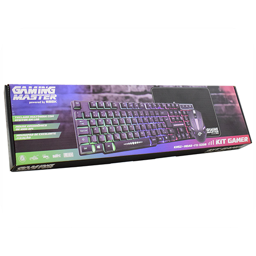 Kit Gamer Km52- Teclado, Mouse e Mousepad K-MEX