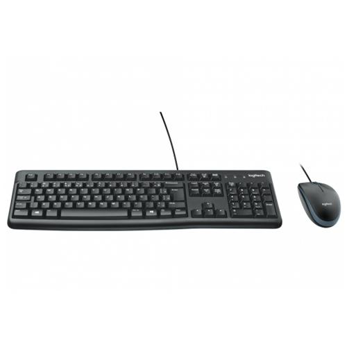 Kit Teclado e Mouse Logitech Com Fio MK120