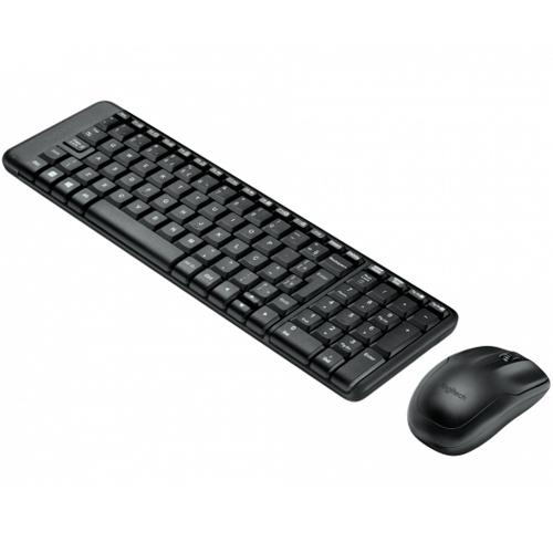 Kit Teclado e Mouse Sem Fio Logitech MK220