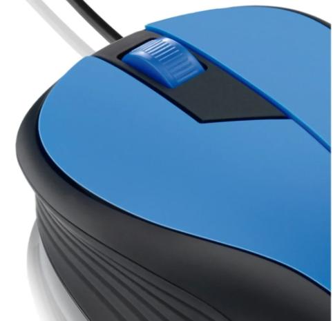 Mouse Multilaser Com Fio  Azul e Preto MO226