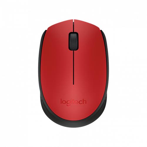 Mouse Sem Fio M170 Vermelho e Preto Logitech