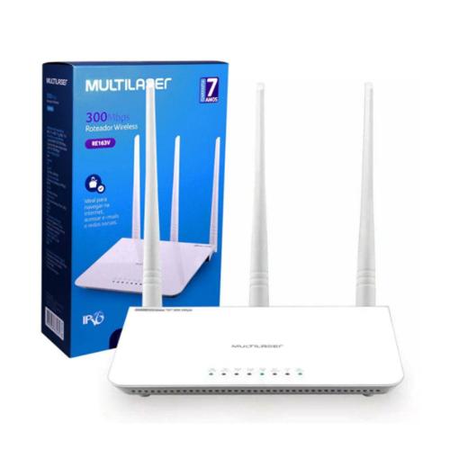 Roteador RE163V 3 Antenas 300Mbps Multilaser