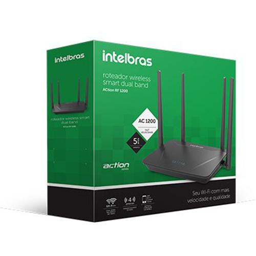 Roteador Wireless Dual Band ACtion RF 1200 Intelbras