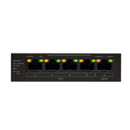 Switch 5 portas Fast Ethernet SF 500 PoE Intelbras