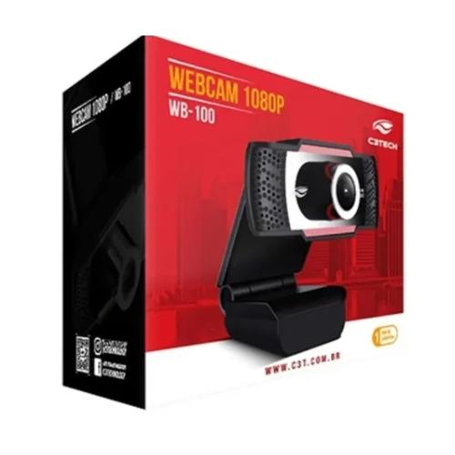 Webcam Full HD 1080p WB-100BK C3Tech