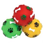 Brinquedo de Borracha Bola Pata Osso para Cães e Gatos - Cores Sortidas