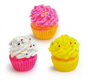 Brinquedo Mordedor Sonoro de Vinil para Cães Cupcake - Cores Sortidas