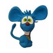 Brinquedo Mordedor Sonoro Macio Látex - Dentinho Cores Sortidas