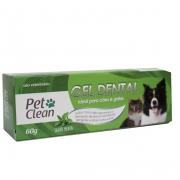 Gel Dental para Cães e Gatos Pet Clean - 60 g - Sabor Menta