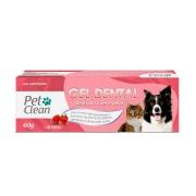 Gel Dental para Cães e Gatos Pet Clean - 60 g - Sabor Morango