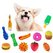 Kit 2 Brinquedos Mordedores Sonoros de Vinil para Cachorros - Sortidos