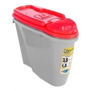 Porta Ração Dispenser Plast Pet Home Tiffany 3,5 L/1,5 Kg