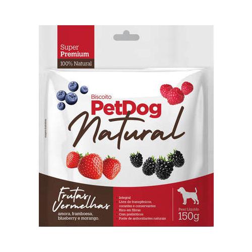 Biscoito Natural para Cães Super Premium PetDog Frutas Vermelhas - 150 g