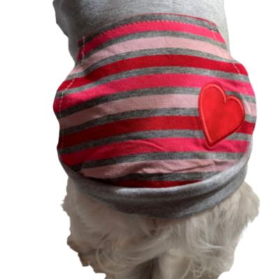 Blusa Moletinho Coração Cinza - G