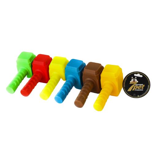 Brinquedo Mordedor para Cachorro Vinil Atóxico - Marreta (Cores Sortidas)