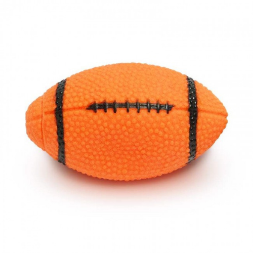 Brinquedo Mordedor Sonoro de Vinil para Cães Bola Futebol Americano - Cores Sortidas