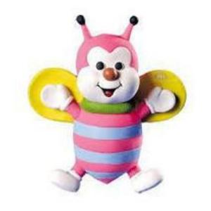 Brinquedo Mordedor Sonoro Macio Látex - Abelhinha Zum Zum Cores Sortidas