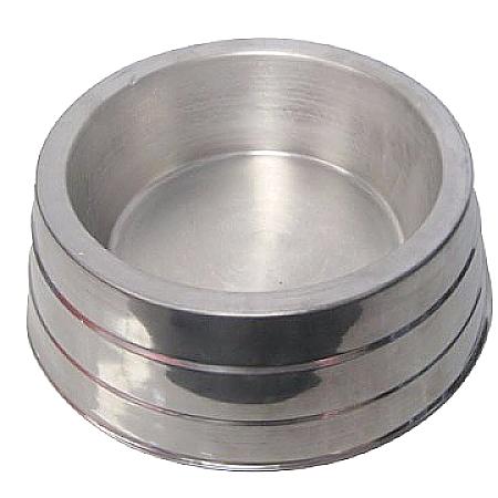 Comedouro Pesado Polido de Alumínio para Cães