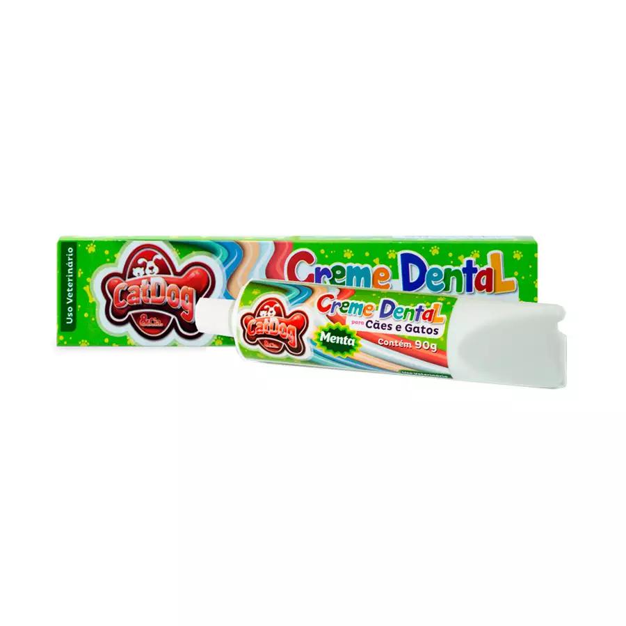Creme Dental para Cães e Gatos - 90g - Sabor Menta