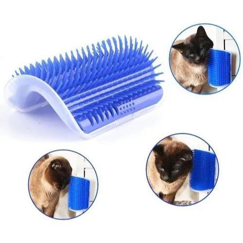 Escova Tira Pelos para Gatos Coça Gato com Catnip Napi - Azul