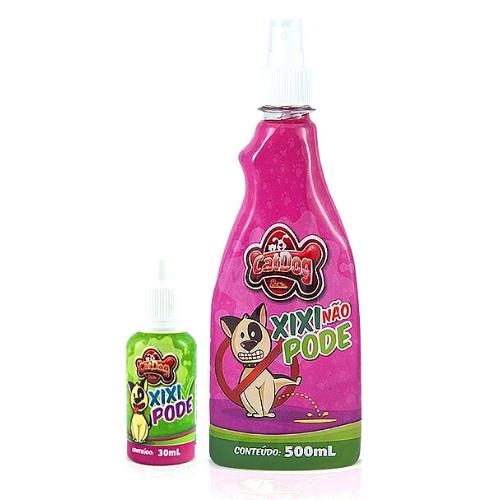 Kit Educador Sanitário para Cães Xixi Não Pode 500 ml + Xixi Pode 30 ml