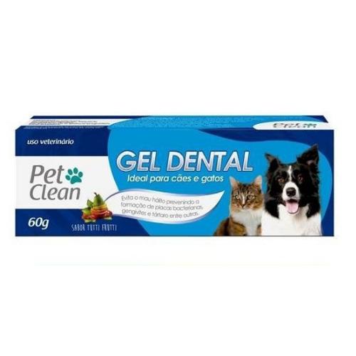 Kit Escova Dedeira + Creme Dental para Cães e Gatos - 60 g - Sabor Tutti Fruti