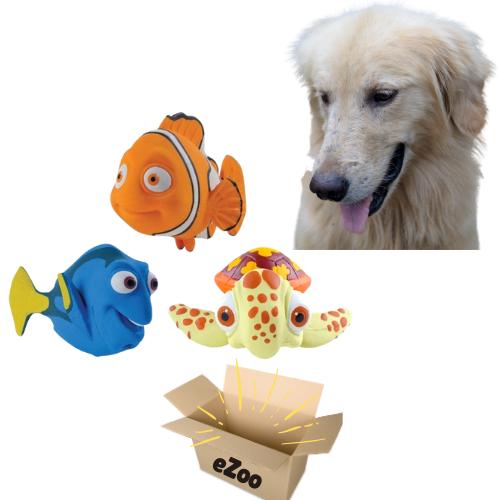 Kit Especial 3 Brinquedos Mordedores Macio Procurando o Nemo