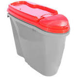 Porta Ração Dispenser Plast Pet Home Tiffany 1,5 L/600 g