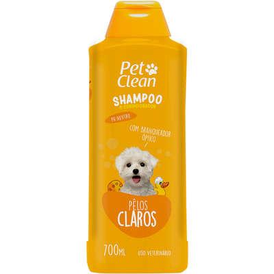 Shampoo e Condicionador para Cães e Gatos Pet Clean - Pelos Claros - 700 ml