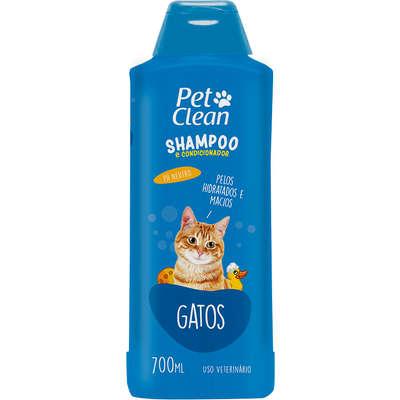 Shampoo e Condicionador para Gatos Pet Clean- Gatos - 700 ml