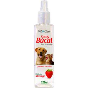 Spray Bucal para Cães e Gatos Pet Clean 120 ml - Morango