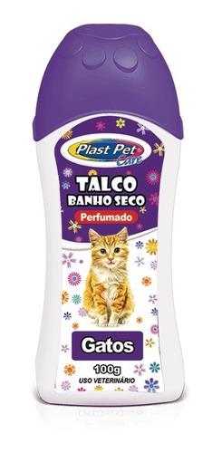 Talco Banho Seco para Gatos Plast Pet Care - 100 g
