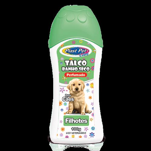Talco Banho Seco para Cães Plast Pet Care - Filhotes - 100 g