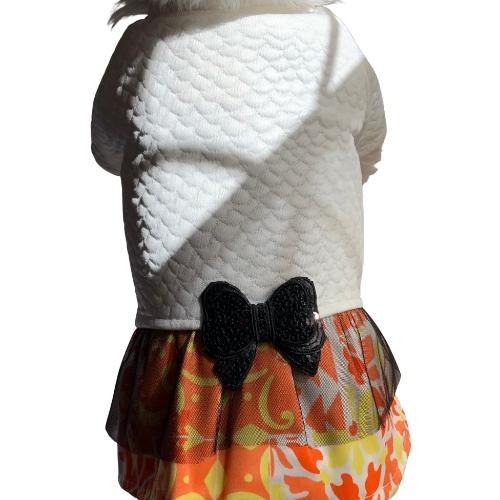 Vestido Chic com Laço Matelassê Branco - Mini