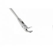 Pinça de Apreensão Tipo Triângulo, Curva Para Cima, Fenestrada, Giratória 360°, Ponta 5 mm X 2,8 mm, Comprimento de 250 mm